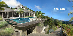 Rendering für Wolfang Ludes Villa St. Barth The Peak