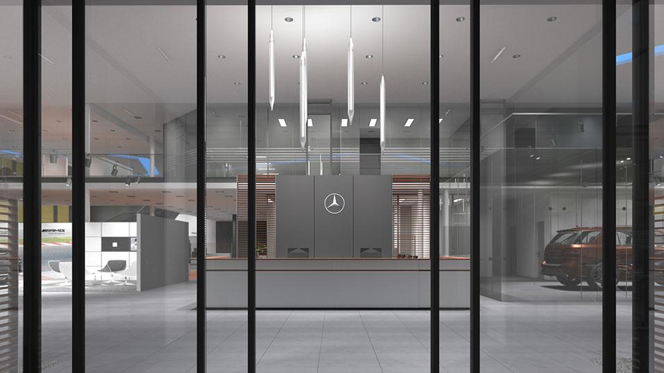 mercedes benz autohaus perm innenarchitektur i. Black Bedroom Furniture Sets. Home Design Ideas